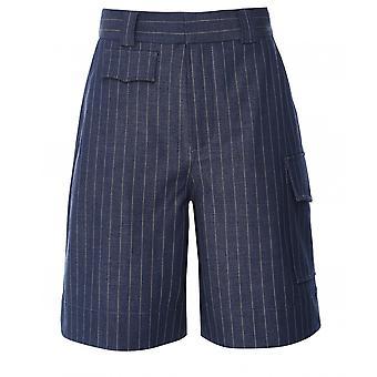 Ganni Stretch Stripe Shorts