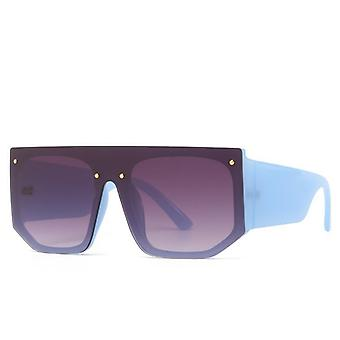 サングラスユニセックスワイドアーチ弾性材料青い色で