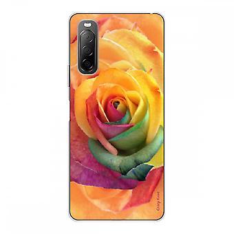Runko Sony Xperia 10 Ii Silikoni pehmeä 1 mm, vaaleanpunainen värikäs kukka
