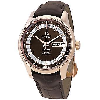 Omega De Ville Hour Vision 18kt Rose Gold Automatic Chronometer Men's Watch 431.63.41.22.13.001