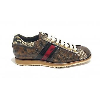 Men's Shoes Harris Leather Leather Print Grey Buffered/ Pit Rock/ Shade Red U17ha112