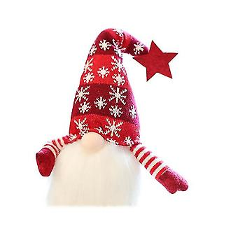 Christmas Decoration Glowing Dwarf Plush Doll Ornaments New Year Decorations