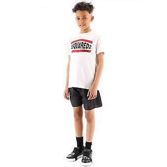 DSQUARED2 Kids Musta Logo Ui lyhyeksi