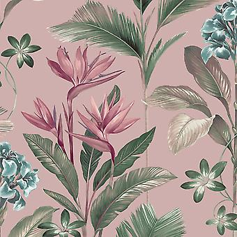 Oliana Floral Pink Wallpaper