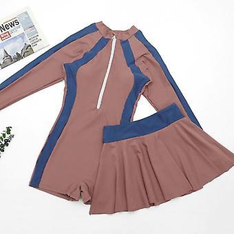 Swimsuit children's jumpsuit two-piece flat-angle leggings with short skirt girl swimwear