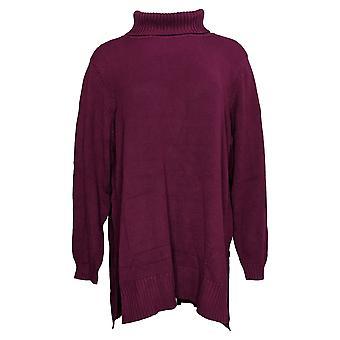 Joan Rivers Classics Collection Women's Sweater Tunic Purple A343430