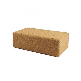 Fitness Mad Cork Brick Regular Size Yoga And Pilates Training Equipment