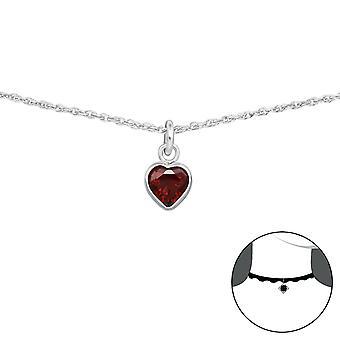 القلب-925 فضة التشوكرز-W34699x