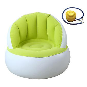 Child/adult Home Outdoor Inflatable Round Sofa Flocked Pvc Air Chairs Blow Up