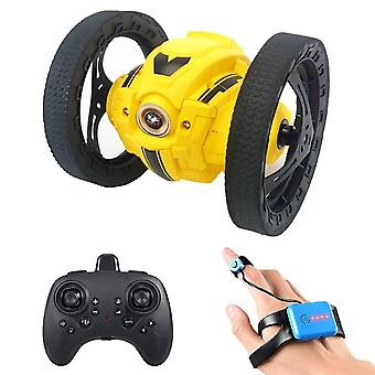 2Wd 2.4ghz rc bounce car jump remote control stunt watch induction 360° rotation 27.6 inches bouncing music led light