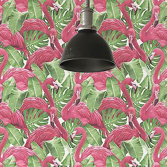 Global Fusion Flamingos Wallpaper Pink G56406