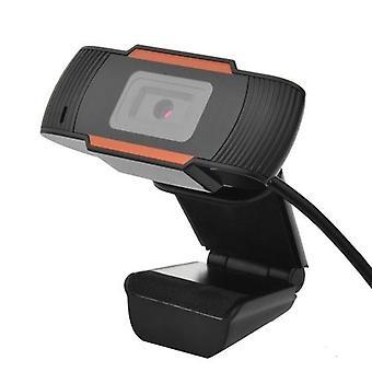 USB Webcam 720p HD -verkkokameran pistoke ja toisto Bulit-in-mikrofonilla