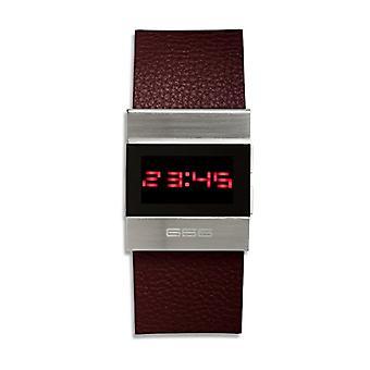 666Barcelona Unisex Digital Klocka för vuxna med läderrem 666-141