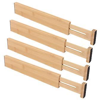 4ST Trä färg justerbar Bambulåda avdelare 43x6x1.5cm för kök