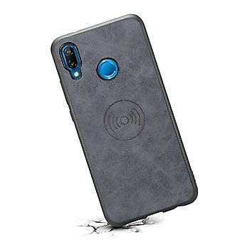 Leather phone case with stand  for Samsung S10e retro gray