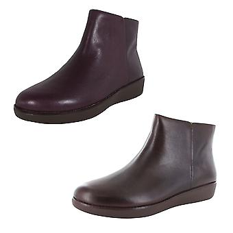 Fitflop Womens Ziggy Zip Leather Bootie Shoes