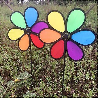 Brinquedo rotador de vento arco-íris, estaca de chão, pátio ao ar livre, decoração de jardim