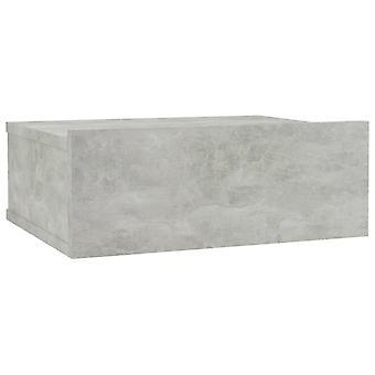 vidaXL Comodino appeso Grigio cemento 40 x 30 x 15 cm Truciolato