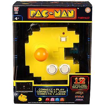 Pac-Man Connect und Play Console-12 Built in Retro Arcade Spiele
