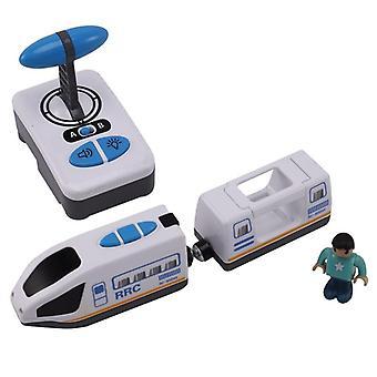الكهربائية RC سيارة التحكم عن بعد الأزرق الأبيض الكهربائية سيارة القطار