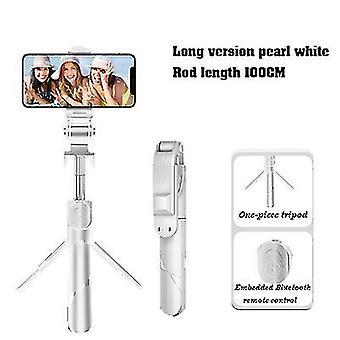 100Cm λευκό επεκτάσιμο selfie stickwireless τηλεχειριστήριο και στάση τρίποδων x7511