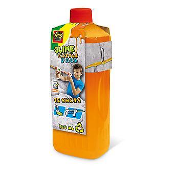 SES Creative - Children's Slime Battle Pack Neon Orange Refill Bottle 750ml (Orange)