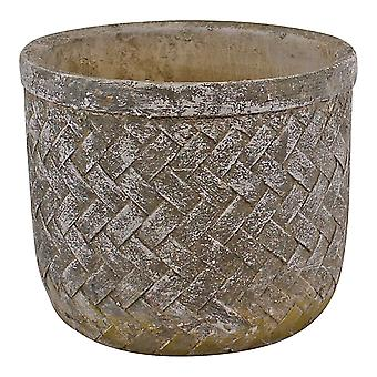 Splot Effect Cement Pot, Średni, średnica 19cm