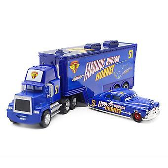 Carros Caminhão de Carga Trailer 51 Campeão Carro de Corrida Diecast Carros de Liga Modelo Brinquedo Presente Infantil