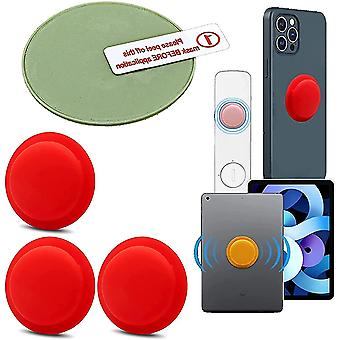 3 Pack Location Tracker Case Adhesive Protective Cover For Apple Airtag(Red)