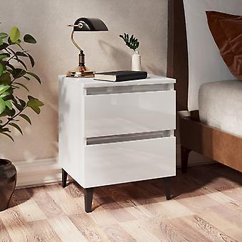 vidaXL yöpöytä korkea kiilto valkoinen 40x35x50 cm lastulevy