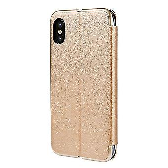 Huawei P20 Lite Flip Leder Flip Case Cover - Gold