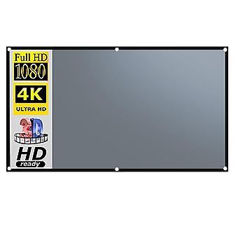 Projector screen 120 inch reflective portable