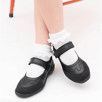 Roamers Laurina Girls Mary Jane Zapatos Negro