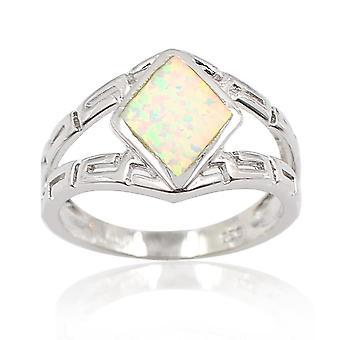Rhombu Opal -sormus