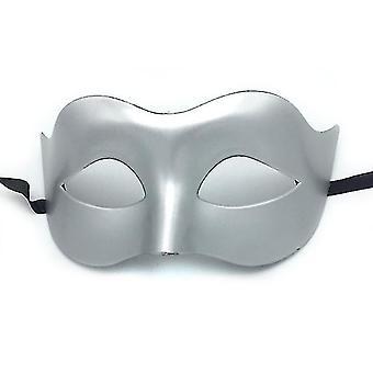 Halloween Black Masquerade Masks Cool Men Adult Kids Fighter Half Face Venetian Mask(Gold)