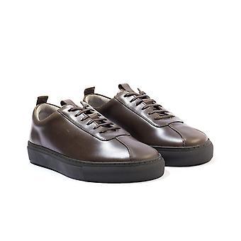 Grenson 1 Leather Trainers - Dark Calf