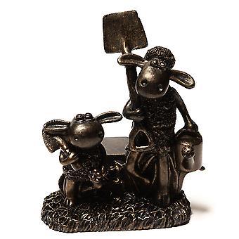 Potty Feet Decorative Shaun The Sheep Plant Pot Feet Bronze Color 3pc