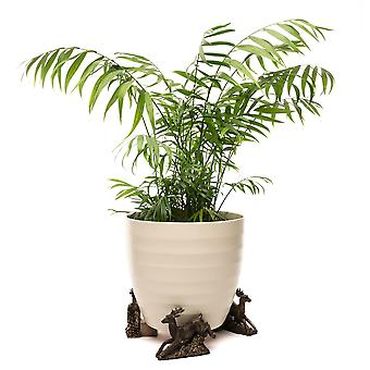 Potty Feet Leaping Stag Themed Plant Pot Feet - Bronze Color - Set of 3