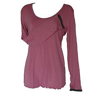 תערובת טריומף והתאמה חולצת פיג'מה רכה עם שרוול ארוך
