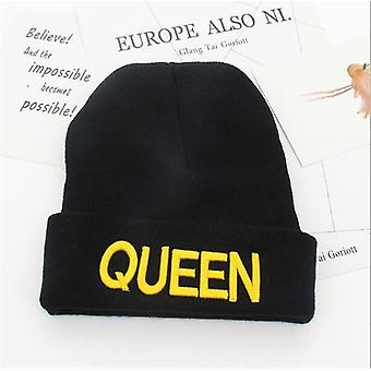 Unisex king and queen themed cotton beanies(3)