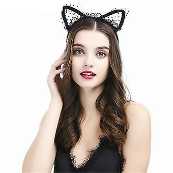 Mimigo 2 Pack Spitze Katze Ohren Stirnband Frauen Mädchen Haar Reifen Party Dekoration Cosplay Haar Accessoires