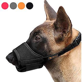 Muso per cani da esterno Sicurezza anti-morso Muso per animali domestici traspirante Nero (c)