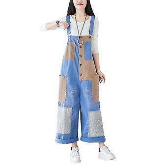 Woman Oversize Overalls Demin Pants