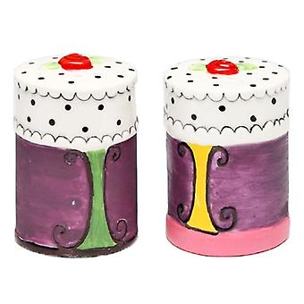 White Dotted Cake Salt and Pepper Shakers Set