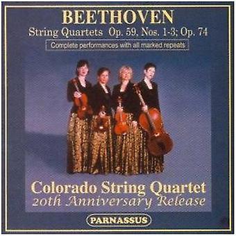 Colorado Quartet - Beethoven: String Quartets, Op. 59, Nos. 1-3 & Op. 74 [CD] USA import