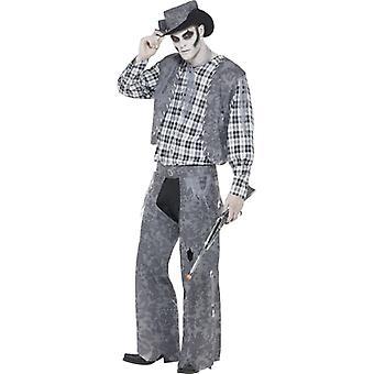 Ghost town cowboy zombie kostume Herre Western Halloween