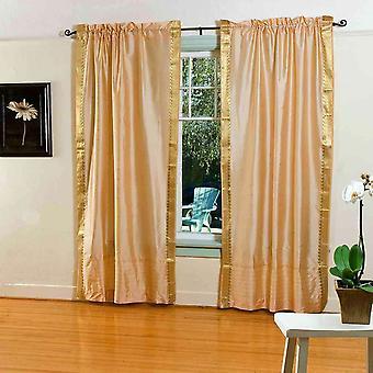 Gouden staaf Pocket zuivere Sari gordijn / Drape / paneel - koppel