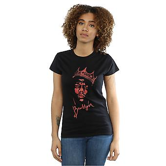 Notorious BIG Women's Red Crown Face T-Shirt