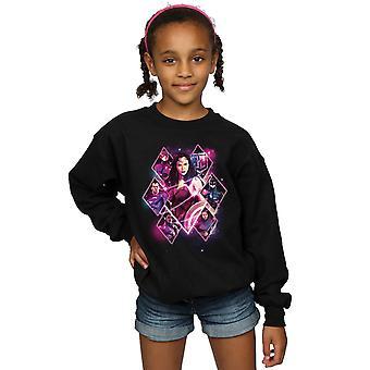 DC Comics filles Justice League Movie équipe diamants Sweatshirt