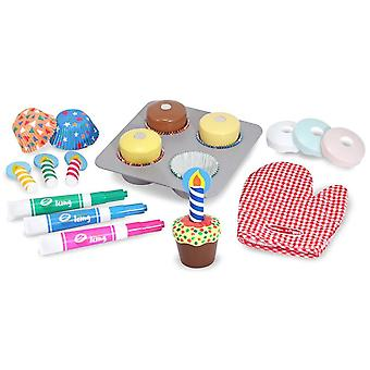 Melissa & Doug Wooden Cupcake Set